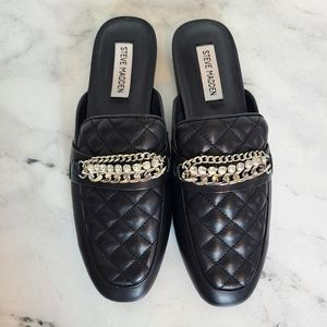 Steve Madden Kalitta Leather Quilted Chain …